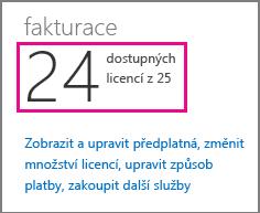 Zobrazení počtu licencí, které jsou dostupné k přiřazení v Office 365 Small Business Premium