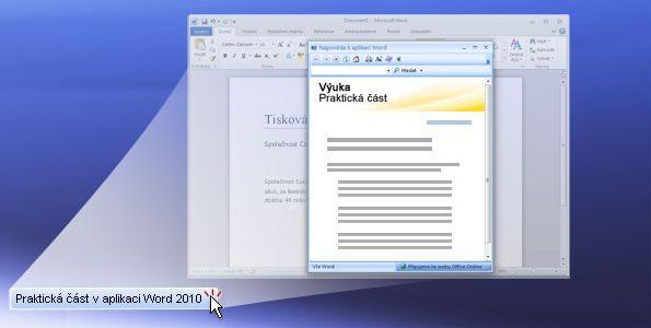 Praktická část v aplikaci Word 2010