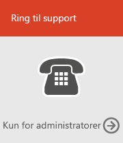 Ring til support (kun admin)