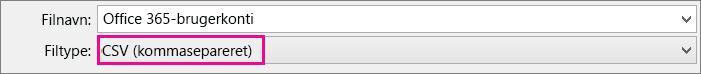 Et billede af, hvordan du gemmer en fil i Excel i CSV-format