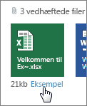 Få vist vedhæftede Office-filer i Outlook Web App