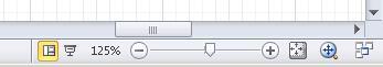 Naviger i et diagram ved hjælp af værktøjerne på statuslinjen