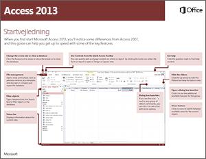 Access 2013 Startvejledning