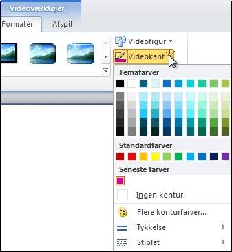 Ændring af farven på en video