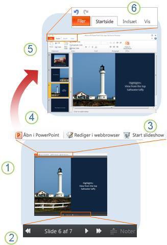 Hurtigt overblik over PowerPoint Online