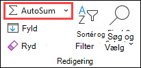 Autosum under fanen Hjem