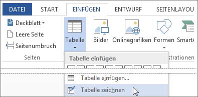 Zeichnen einer Tabelle