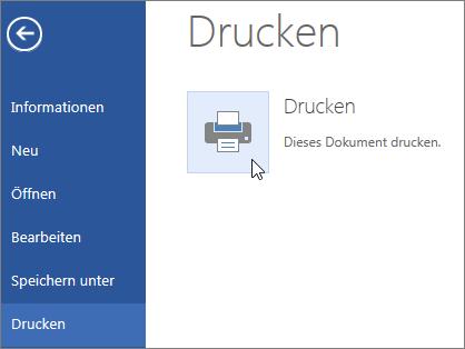 Schaltfläche 'Drucken als PDF-Datei' in Word Online