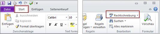 InfoPath Designer Spelling command