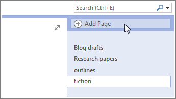 Fügen Sie weitere Seiten zu Ihren Notizbüchern hinzu.