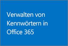 Verwalten von Kennwörtern in Office365