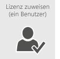 Weisen Sie einem einzigen Benutzer eine Office 365-Lizenz zu.