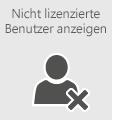 Zeigen Sie eine Liste der nicht lizenzierten Benutzer an.