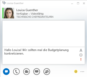 Screenshot des Chatunterhaltungsfensters