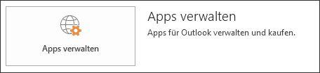 Apps für Outlook verwalten