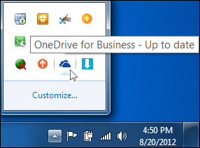 OneDrive for Business sync status