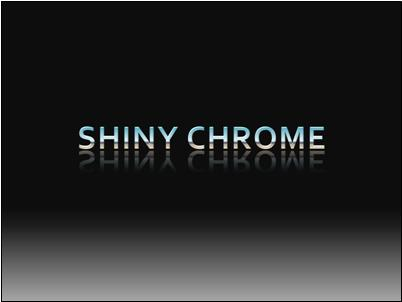 """Custom """"chrome"""" gradient-filled text with bevel and reflection"""