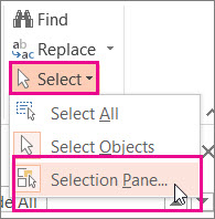 Open the Selection Pane