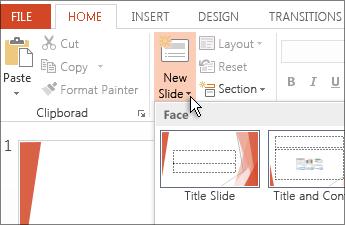 Insert a new slide