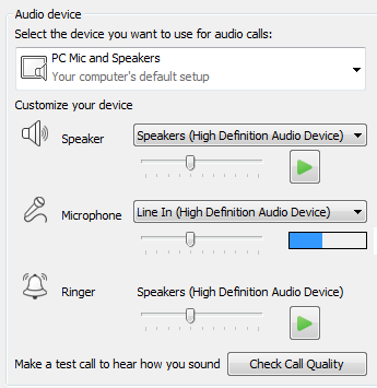 Set your audio quality