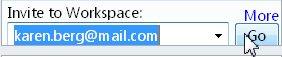 Inviting to a workspace via e-mail address