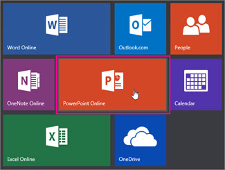Click the PowerPoint Online tile