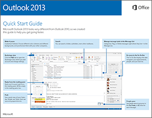 Outlook 2013 Quick Start Guide