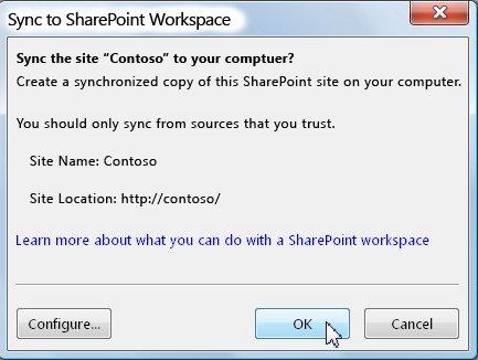 The Sync to Computer dialog box