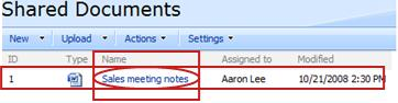 A lookup to the current item retrieves the value of the column that you specify