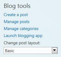 Blog tools on public website