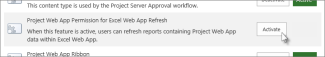 Project Web App Permission for Excel Online Refresh
