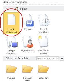 Blank document