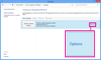 Adding input method in Control Panel in Windows 8