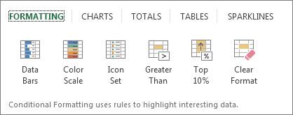 Formatting tab