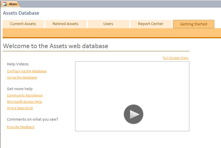 Assets Web Database