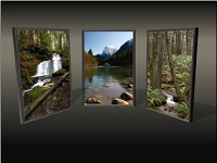 Custom animation effects: picture triptych, slide 2, picture returns to left