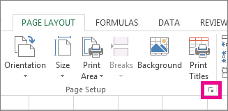 Click the arrow in the bottom right corner of the Page Setup group