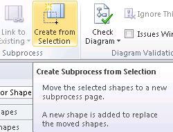 Create SubProcess from Selection button
