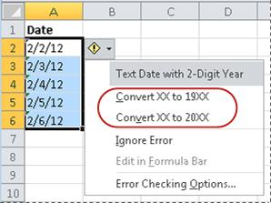 Commands for converting dates
