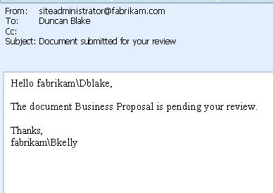 Email message highlighting the potential areas of inserting lookups