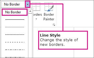 Border line style