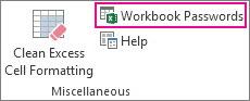 Workbook Passwords command