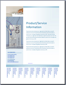 Flyer (Soft Blue design) template on Office Online