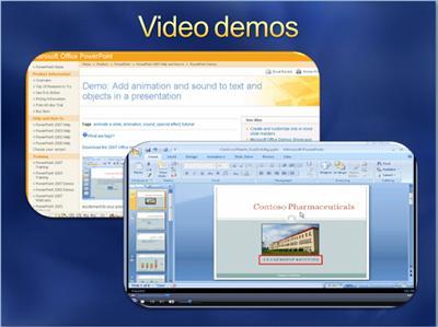 Slide with screen captures