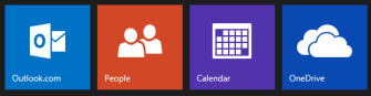 Mail, People, Calendar, and OneDrive