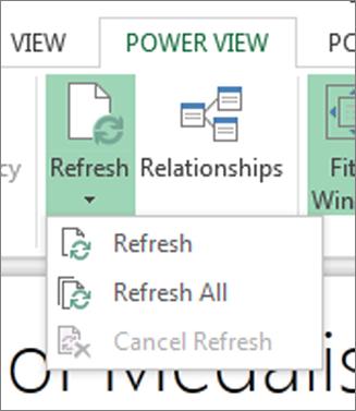 Power View Refresh button
