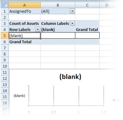 the blank pivottable and pivotchart reports