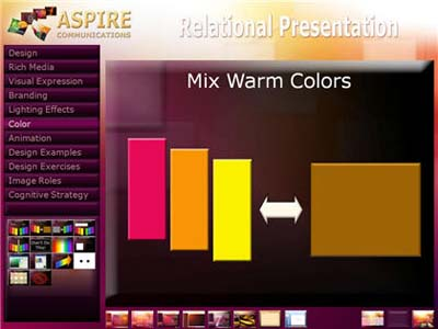 Warm colors group