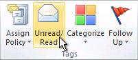 Unread/Read command on the ribbon