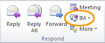 Respond with a Lync 2010 IM in Outlook 2010